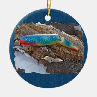 "J & H ""WIG LIT"" Vintage Saltwater Lure Items Ceramic Ornament"