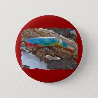 "J & H ""WIG LIT"" Vintage Saltwater Lure Items Pinback Button"