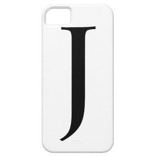 J inicial iPhone 5 fundas