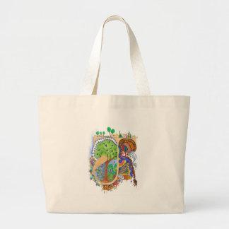 J, initial, monogram, wedding large tote bag