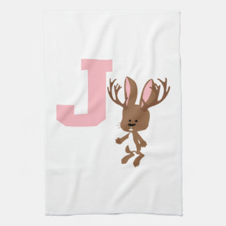 J is for Jackalope Hand Towel