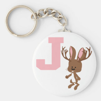 J is for Jackalope Keychain