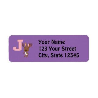 J is for Jackalope Label