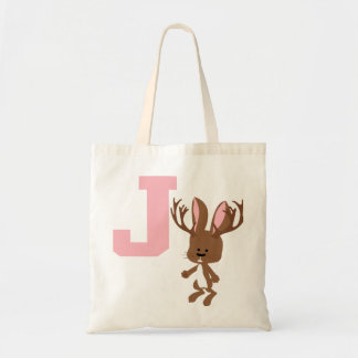 J is for Jackalope Tote Bag