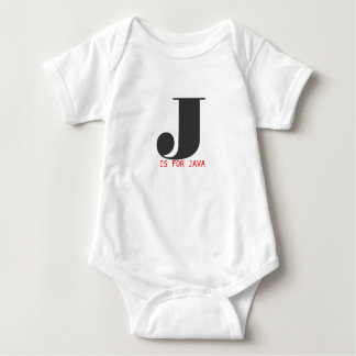 J is for Java Baby Bodysuit