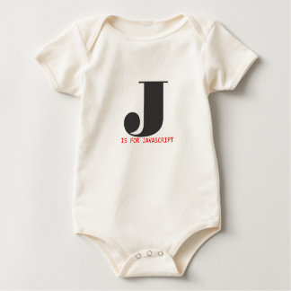 J is for Javascript Baby Bodysuit