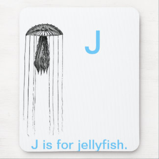 J is for Jelly fish Mouse Pads