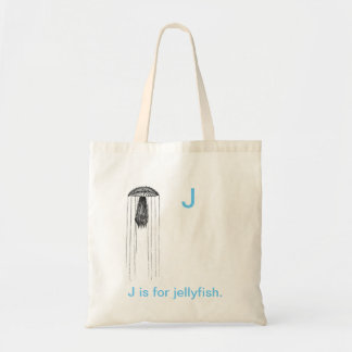J is for Jelly fish. Tote Bag