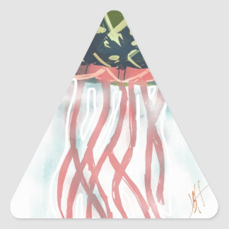 J is for Jelly Triangle Sticker