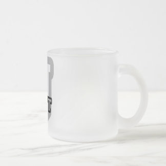 J is for Jett Frosted Glass Coffee Mug