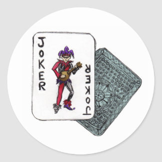 J is for Joker Classic Round Sticker
