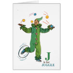 'J' is for Juggle Greeting Card