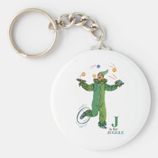 'J' is for Juggle Keychain