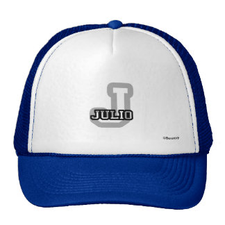 J is for Julio Trucker Hat