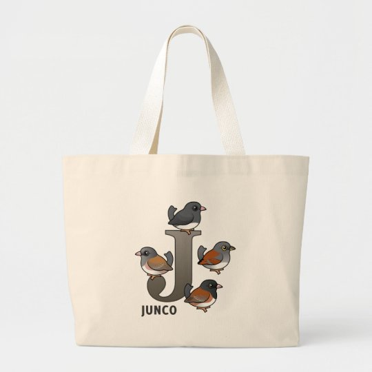 J is for Junco Large Tote Bag