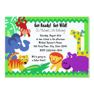 J is for Jungle 5x7 Paper Invitation Card