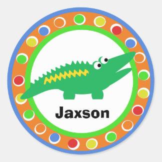 J is for Jungle Alligator Classic Round Sticker