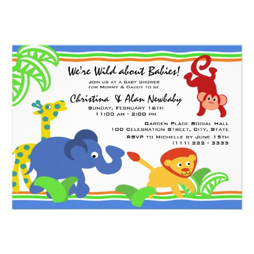 J is for Jungle Baby Shower Invites