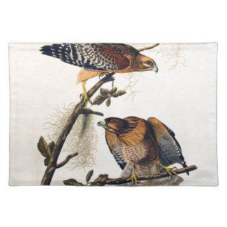 J.J. Audubon (Red Shouldered Hawk) (1829) Cloth Placemat