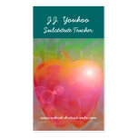 J.J. Youhoo Substitute Teacher Double-Sided Standard Business Cards (Pack Of 100)