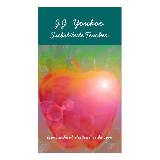 Substitute teacher business card templates bizcardstudio jj youhoo substitute teacher business card colourmoves