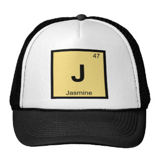 J - Jasmine Chemistry Periodic Table Symbol Mesh Hats
