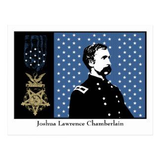 J.L. Chambelán y la medalla de honor Tarjeta Postal
