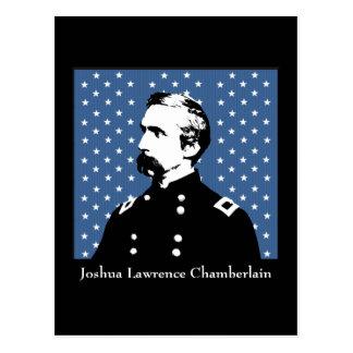 J.L. Chamberlain and MOH Flag Postcard