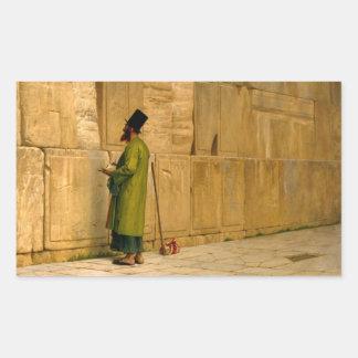 J.L. Gerome - la pared que se lamenta Rectangular Pegatina
