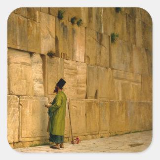 J.L. Gerome - la pared que se lamenta Calcomanía Cuadradas