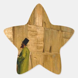 J.L. Gerome - la pared que se lamenta Calcomanía Forma De Estrella Personalizada