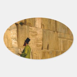 J.L. Gerome - la pared que se lamenta Calcomania De Óval Personalizadas