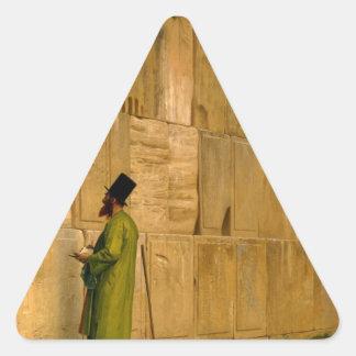 J.L. Gerome - la pared que se lamenta Calcomanía De Triangulo