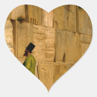 J.L. Gerome - la pared que se lamenta Pegatina De Corazón Personalizadas