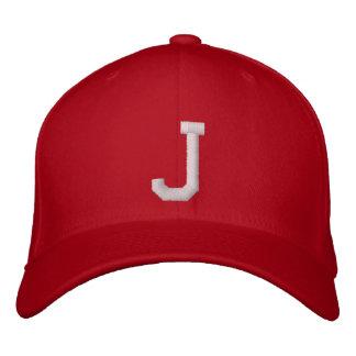 J Letter Baseball Cap