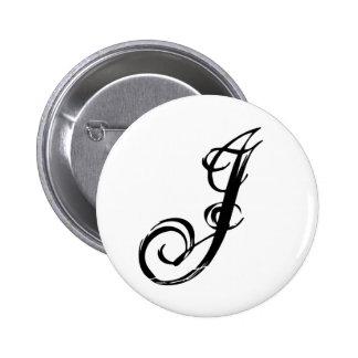 J letter j Button customized button