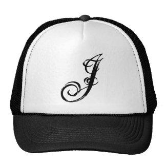 J letter J hat graphic fashion truck hat