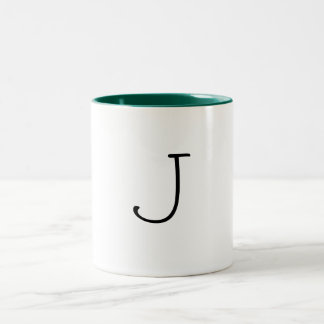 J Letter Mug
