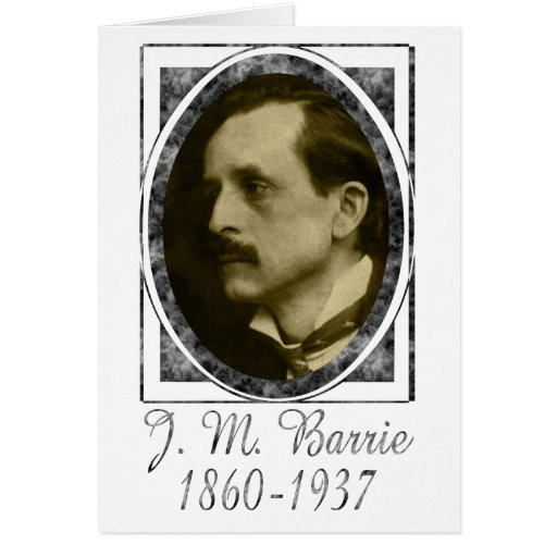 J. M. Barrie Greeting Card