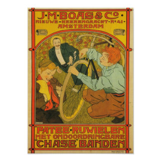 J.M Boas & Co. Bicycle Poster