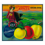 J.M.L. Apple Crate LabelWatsonville, CA Poster