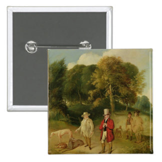 J. M. W. Turner (1775-1851) and Walter Ramsden Faw 2 Inch Square Button
