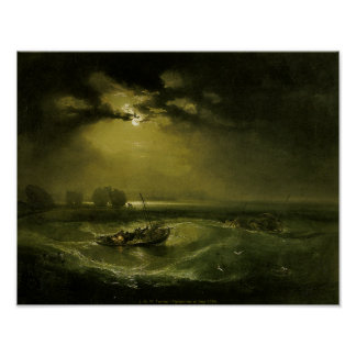 J. M. W. Turner - Fishermen at Sea Poster