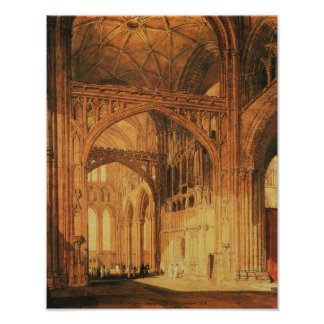 J.M.W. Turner - Interior of Salisbury Cathedral Poster