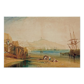 J.M.W. Turner - Scarborough Town and Castle Poster