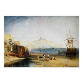 J. M. W. Turner - Scarborough Town and Castle Poster