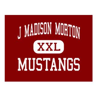 J Madison Morton - mustangos - centro - Fall River Tarjetas Postales