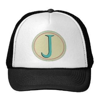 J MONOGRAM LETTER TRUCKER HAT