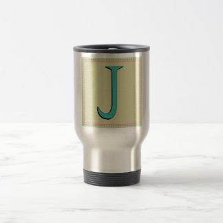 J MONOGRAM LETTER COFFEE MUGS