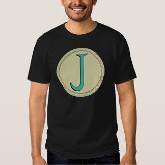 J MONOGRAM LETTER SHIRT